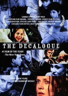 By Byron Toben. Dekalog film series continues and a list of film festivals to come. Kieslowski's epic, very loosely based on the 10 commandments. Jessica Tandy, Lund, Krzysztof Kieslowski, 1 Film, Cinema, All Quotes, Film Awards, Great Movies, Cannes