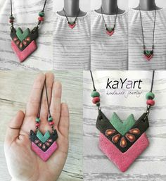 Polymer clay earrings ♥  Visit for more info: www.facebook.com/KayaArt/