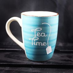 A personal favorite from my Etsy shop https://www.etsy.com/listing/493346133/tea-time-mug-tea-mug-etched-ceramic