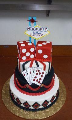 casino  vegas poker cake