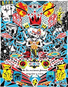 R Mellado Diseñador gráfico e ilustrador freelance.  Obra: all stars