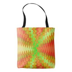Groovy Colorful Yellow Orange Abstract Tote Bag. Fun design for spring or summer #zazzle #handbag #trends