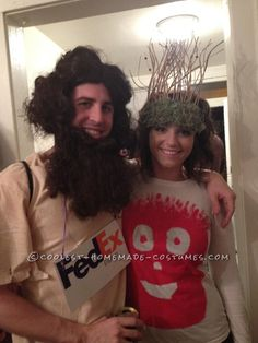 Cool Chuck Noland and Wilson Cast Away Couple Costume... This website is the Pinterest of costumes