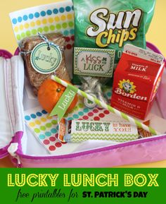 "Lucky Lunch Box Collection - free printables to create a little ""magic"" on St. Patrick's Day!"