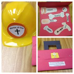 Workers of God craft! 1 Corinthians 3:9 Construction hat and a Christian toolbox!