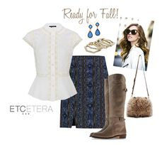 The Lacework blouse (Ivory silk crepe georgette peplum blouse with lace trim, $225.00) paired with the Taos Skirt (midnight blue-camel-espresso-prussian blue-vicuna-black-silver metallic variegated stripe A line skirt, $195.00).  Put your favorite boots on and you are dressed!   See more at www.lowcountrystyles.com.  Holiday Show Sept. 25-October 6th