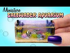 Miniature Saltwater Aquarium Tutorial // DIY Dolls/Dollhouse - YouTube