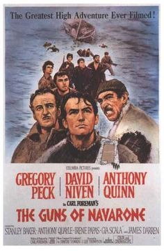 Guns Of Navarone (1961) The Germans will annihilate thousands of British soldiers trapped in Greece unless help arrives quickly. But the dreaded guns of Navarone will destroy any rescue ship that comes within their mighty reach. Can a commando team of Allied soldiers and Greek partisans succeed in doing the impossible? Classics fans will love the must-see bonus features. David Niven, Gregory Peck, Anthony Quinn...TS war