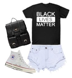 """""""BLACK LIVES MATTER"""" by sarahssmba on Polyvore featuring One Teaspoon, Converse and Sole Society"""