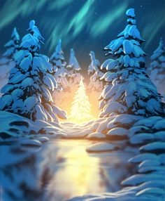 ArtStation - light of the forest , Daniel Conway