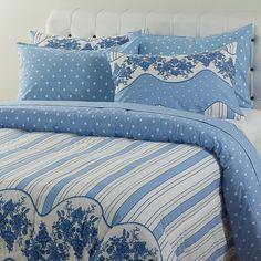 ade2446e71 Enxoval Cama King Camberra Azul 7 Peças - Casa   Conforto