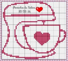Find images and videos on We Heart It - the app to get lost in what you love. Cross Stitch Needles, Cross Stitch Heart, Counted Cross Stitch Patterns, Cross Stitch Designs, Cross Stitch Embroidery, Pixel Art, Crochet Wall Hangings, Monks Cloth, Cross Stitch Kitchen