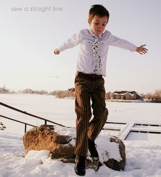 Sew a Straight Line: Shirt and pants both Ottobre patterns.  Great for a handmade boy look.