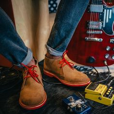 veldskoenshoesusa Tuning into those Sunday Sole Vibes 🎸 . 4 Best songs with boots in the title. *Boot Scootin' Boogie *Get on Your Boots *Dirty Boots *Gypsy Boots . Have a fav we missed? Boot Scootin Boogie, Gypsy Boots, Shoe Selfie, Clean Shoes, Mens Style Guide, Red Sole, Weekend Style, Desert Boots, Who What Wear