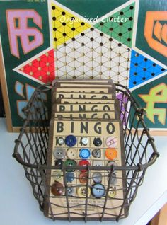 Bingo Cards, Buttons, & a Junky Little Drawer is part of Bingo cards - I love buttons! I have had a great button stash for a long time thanks to my mom and my grandmas I pinned this bingo card recently from Bingo Cards To Print, Bingo Party, Button Cards, Button Button, Flea Market Style, Arts And Crafts, Diy Crafts, Come Undone, Get The Party Started