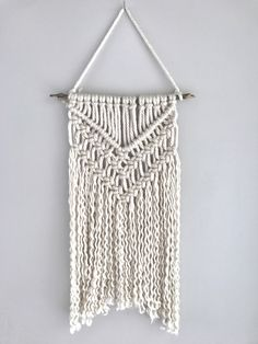 Macrame wall hanging | yarn macrame | tapestry | nursery decor | boho wall hanging by Thoseindiemommies on Etsy https://www.etsy.com/listing/514943579/macrame-wall-hanging-yarn-macrame