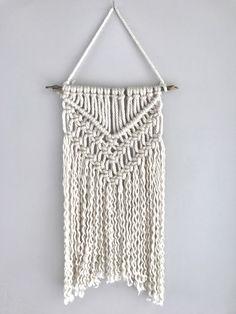Macrame wall hanging | yarn macrame | tapestry | nursery decor | boho wall hanging by Thoseindiemommies on Etsy https://www.etsy.com/listing/514943579/macrame-wall-hanging-yarn-macrame