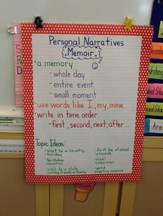 The second grade students are learning to write memoirs during Writers' Workshop.