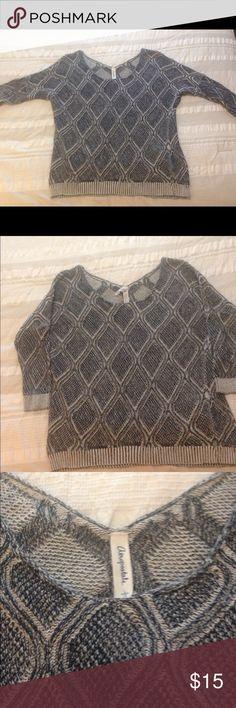 Aéropostale - Sweater - Navy/Cream - Size L Like New - Aéropostale- Sweater - Navy/Cream - Size L Aeropostale Sweaters Crew & Scoop Necks