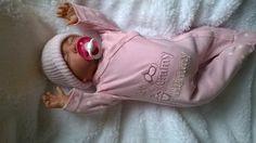 Bambola Reborn Molly, pesante, 48,26 cm, testa calva e succhiotto magnetico, bambina, YCN DOLLS