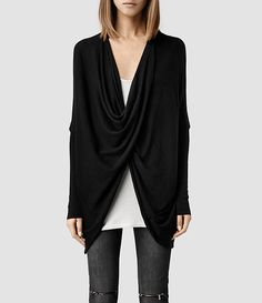All Saints Itat Shrug Cardigan in Black Excellent preowned condition. No holes or fading etc. All Saints Sweaters Cardigans Shrug Cardigan, Black Cardigan, Cardigan Sweaters For Women, Long Sleeve Sweater, Cardigans, Allsaints Style, Pullover, Mom Outfits, Pulls
