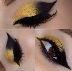 Yellow! Black! Eye makeup