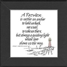 Father Saying Lighthouse Frame Black Gift Inspirational with Built in Easel 5 Gifts, Cute Gifts, Gifts For Dad, Fathers Day Poems, Fathers Day Crafts, Daddy Day, I Love My Dad, How To Show Love, Birthday List
