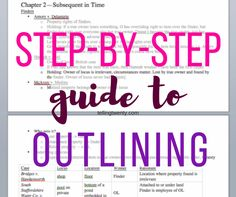Tips for outlining in law school
