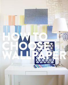 How to choose wallpaper - www.pencilshavingsstudio.com