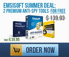 Emsisoft Anti-Malware + CyberGhost VPN Premium + Sticky Password PRO for incredible $39.95 instead of $139.93! Spy Tools, The Incredibles