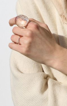 Kiriko Ring  Siri Siri $439  industrial glass made in Tokyo