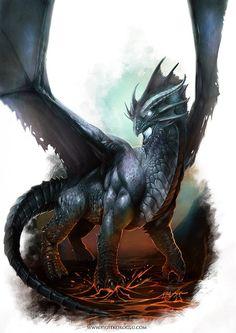 Bluish Dragon by yigitkoroglu.deviantart.com on @deviantART