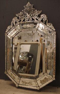 Venetian Glass Mirror Venetian Glass Mirror Glass