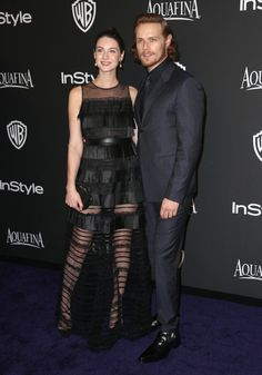 Sam Heughan & Caitriona Balfe at InStyle & Warner Bros Golden Globes Party | OUTLANDER Italy ~ Il Primo Vero Sito Italiano