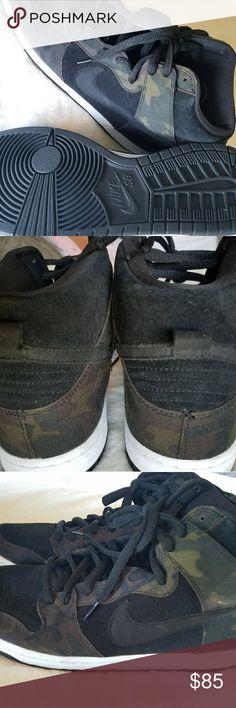 Nike SB Dunk High Nike SB Dunk High Camo & Black / Barely Worn Nike Shoes Athletic Shoes