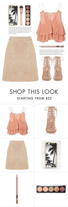 """""""..."""" by yexyka ❤ liked on Polyvore featuring Apiece Apart, Gianvito Rossi, Oasis, Zero Gravity and Charlotte Tilbury"""