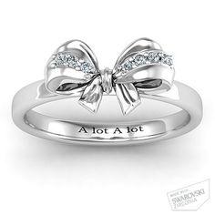 Fancy Stone Set Bow Ring (designed it!)
