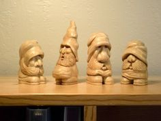 Wood Gnomes - these made me giggle!