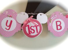 Shabby Chic Minnie Mouse girl Birthday Party by ThePinkPapermill, $99.00