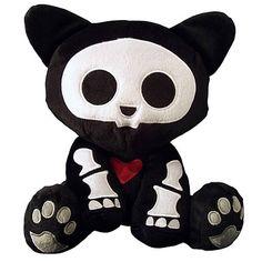 emo animals | Skelanimals Kit (Cat) Deluxe 8-Inch Plush