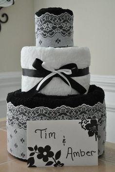towel cake by hunni bunni bowtique on fb