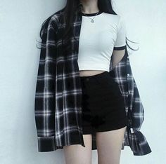 Korean Street Fashion - Life Is Fun Silo Teen Fashion Outfits, Edgy Outfits, Mode Outfits, Cute Casual Outfits, Grunge Outfits, Cute Fashion, Fashion Clothes, Girl Fashion, Girl Outfits