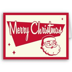 """Retro Christmas Card by Vintage66 - color, interior sign shape, the """"stars"""" are a great take on  the traditional"""