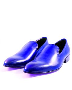 Men's Royal Blue Loafer Slip Ons Derby Toe Genuine Leather Formal Dress Handmade Shoes sold by scorpianshoes. Shop more products from scorpianshoes on Storenvy, the home of independent small businesses all over the world. Cow Leather, Cowhide Leather, Real Leather, Leather Shoes, Suede Leather, Royal Blue Loafers, Formal Shoes, Formal Dress, Cowboy Shoes