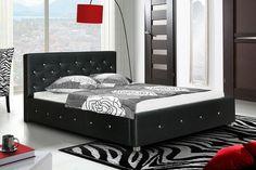 Postel IV - 180x200 cm, matracový rám, Swarovski (černá) Jena, Swarovski, Outdoor Furniture, Outdoor Decor, Toddler Bed, Bedroom, Home Decor, Child Bed, Decoration Home