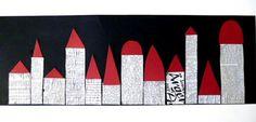 Collage, Art N Craft, Felt Ornaments, Zeppelin, Art School, Newspaper, Winter, Crafts, Art Ideas