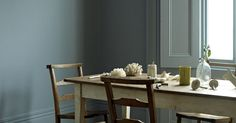 Fired Earth Paint Collection 'Storm' Super Emulsion...Create an atmospheric setting with this colour.