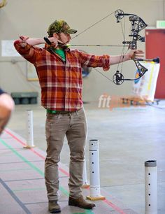 Chris Pratt practices his archery