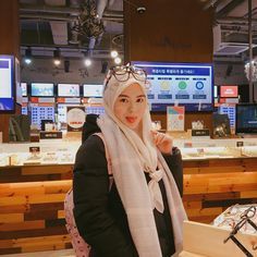 Setahunbaru: Hijab In Love With Ayana Moon Jihye Beautiful Hijab, Beautiful Women, Muslim Dress, Modest Outfits, Hijab Fashion, Ootd, Lady, Hijab Styles, Clothes