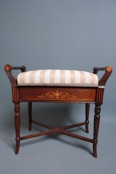 Humor Antique Edwardian Mahogany Piano/dressing Table Stool Antique Furniture